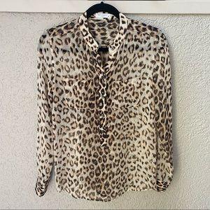 Equipment Ava Silk Leopard Blouse